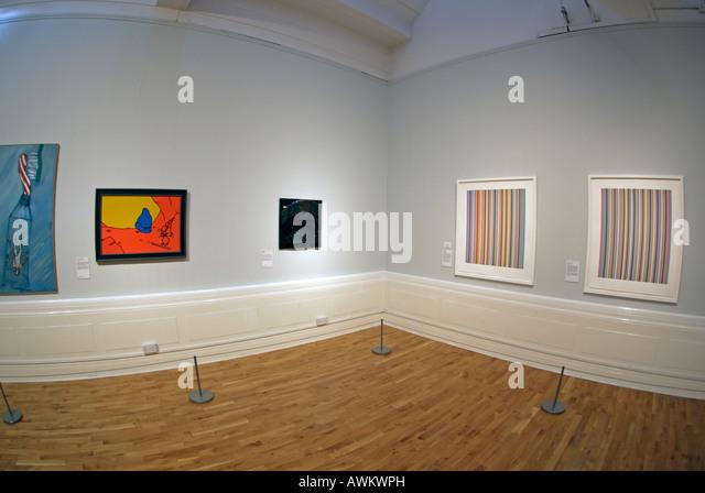 Art Gallery interior - Stock Image
