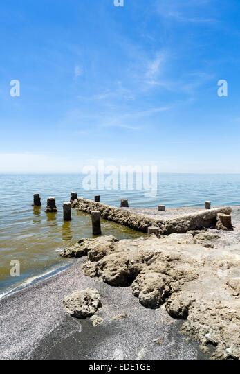 The Salton Sea at Bombay Beach, Imperial County, California, USA - Stock Image