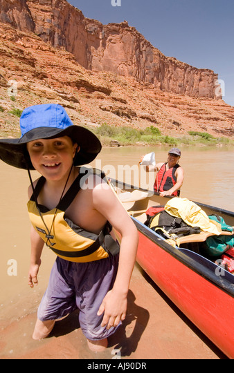 Canoeing on the Colorado River - Stock Image