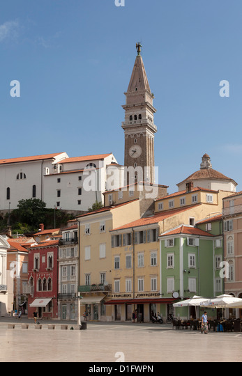 Piran, Istria, Adriatic Coast, Slovenia, Europe - Stock Image