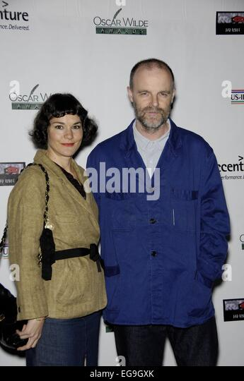 Santa Monica, CA. 19th Feb, 2015. Heather Goldenhersh, Brian O'Byrne at arrivals for Oscar Wilde: Honoring Irish - Stock Image