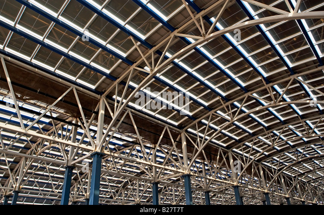 Low angle view of construction site - Stock Image