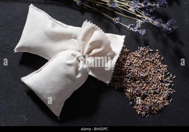 Little Bag with dried Lavender - Stock-Bilder