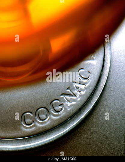 Glass of Cognac French brandy - Stock Image