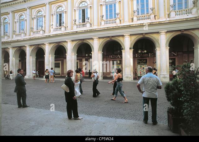 Abruzzo - L'Aquila. Corso Vittorio Emanuele. - Stock Image