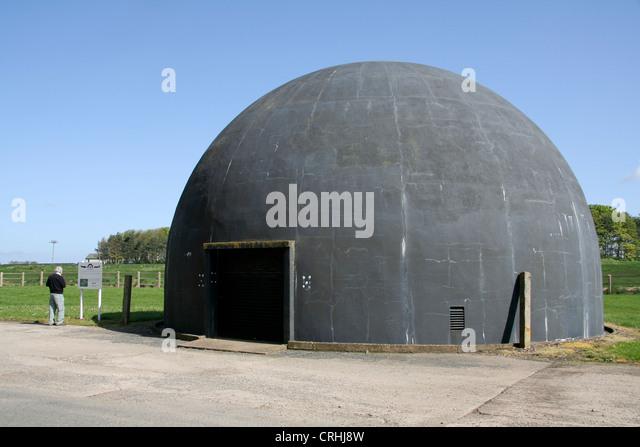 Anti-aircraft gunnery trainer RAF Langham Airfield Norfolk England UK - Stock Image