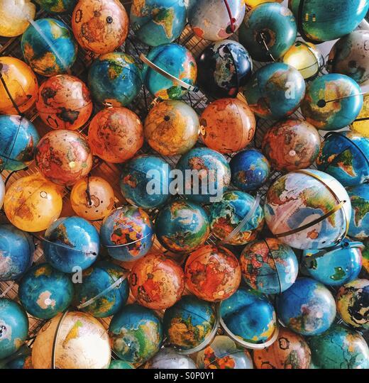 Globes - Stock Image