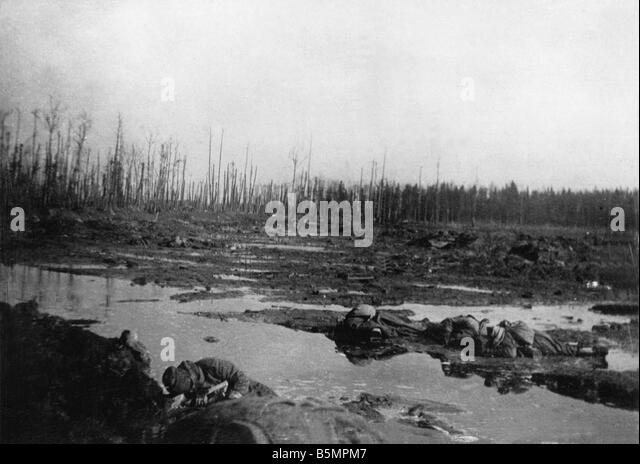 9 1916 3 18 A1 5 E Battle of Postawy 1916 Battlefield World War I Eastern Front Defeat of Russian troops after the - Stock-Bilder