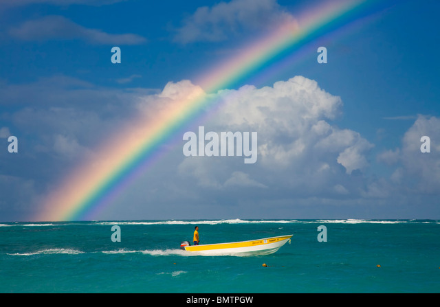 Dominican Republic, La Altagracia Province, Punta Cana, Playa Bavaro - Stock-Bilder