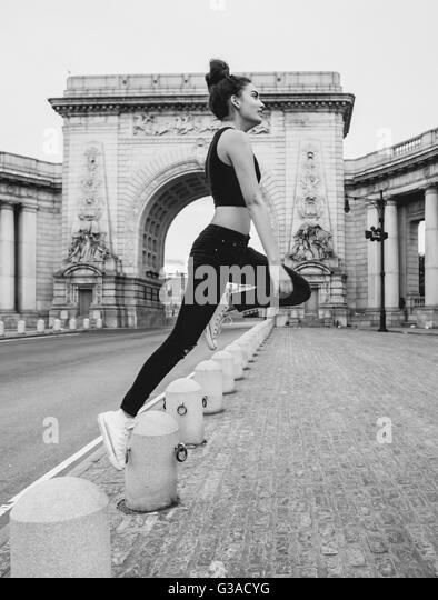 shoot on Manhattan Bridge - Stock Image