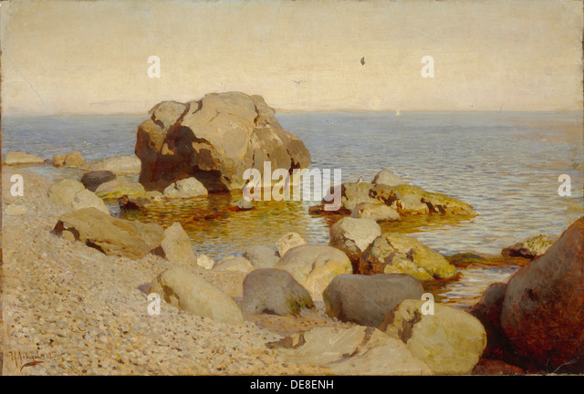 Seashore. The Crimea, 1886. Artist: Levitan, Isaak Ilyich (1860-1900) - Stock Image