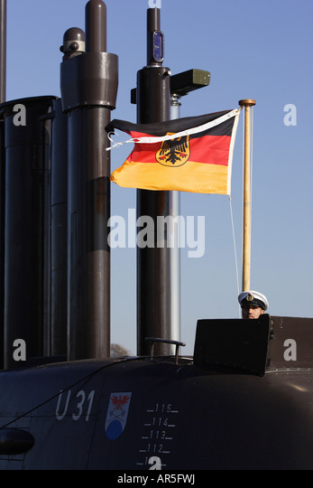 U 31 - first fuel cell propelled submarine, Eckernfoerde, Germany - Stock Image