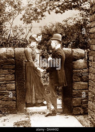 Victorian Sweethearts - Stock Image