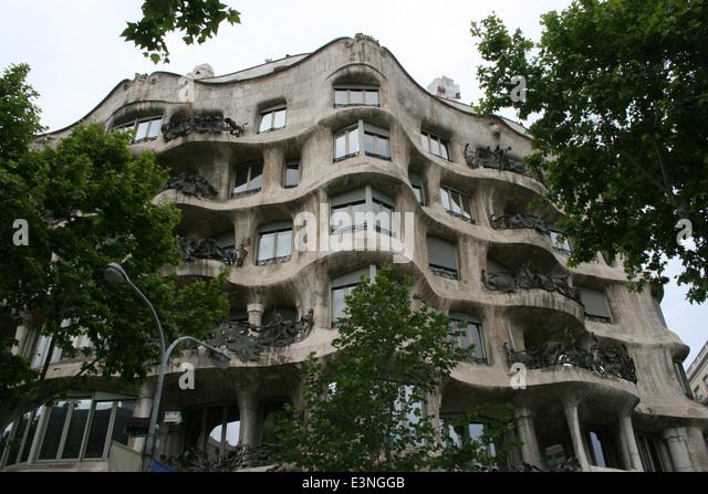 Casa Mila Antoni Gaudi - Stock-Bilder