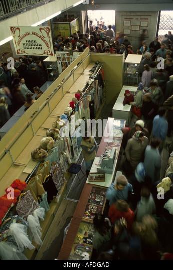 Ukraine L'vov L'viv Department Store shoppers privatization lines - Stock Image