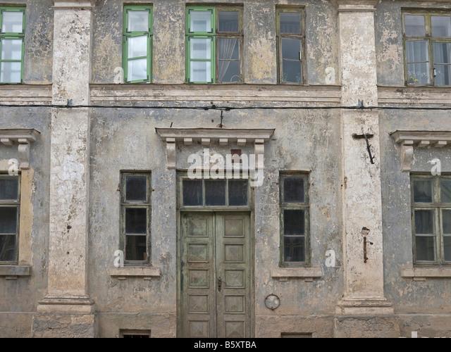old decayed house old town Kuldiga Latvia Baltic states - Stock Image