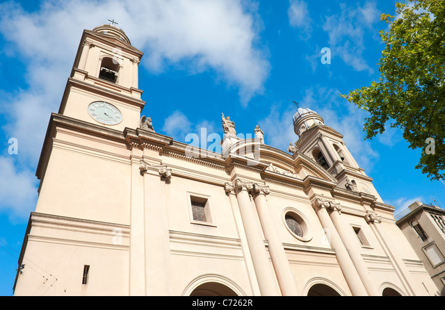 Catedral Metropolitana, Plaza Constitucion, Montevideo, Uruguay - Stock Image