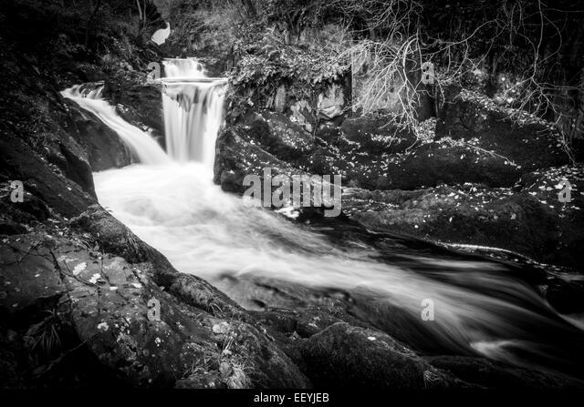 The first of the stunning falls along the Ingleton Walk - Stock-Bilder