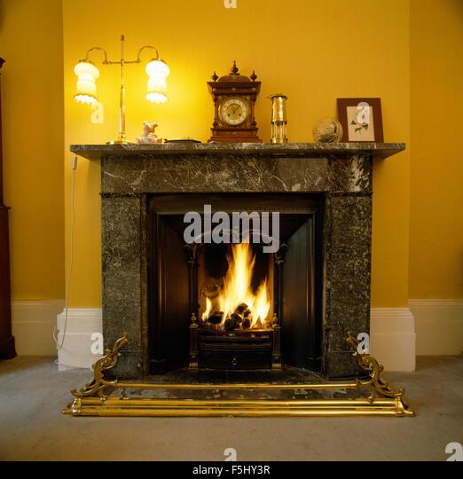 Victorian fireplace england stock photos victorian for Victorian corner fireplace