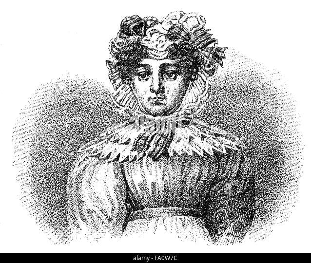 Karoline Pichler, or Caroline Pichler, 1769 - 1843, an Austrian novelist, - Stock-Bilder
