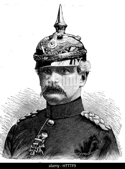 Military people in the Franco-Prussian War 1870 - 1871, Wilhelm Günther Enno of Colomb, August 31, 1812 - February - Stock Image