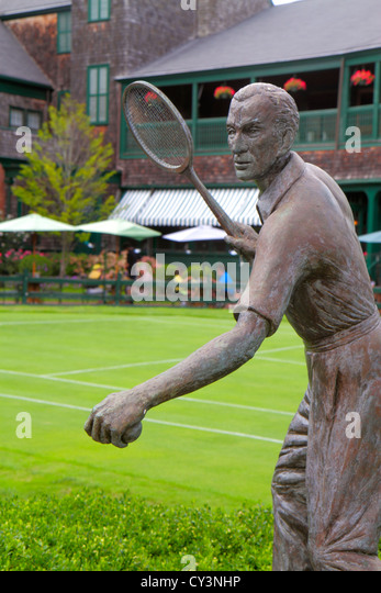 Rhode Island Newport Bellevue Avenue International Tennis Hall of Fame & and Museum Newport Casino grass court - Stock Image