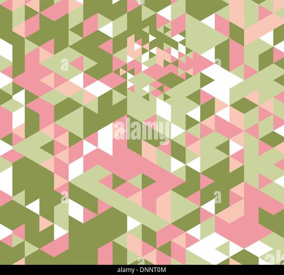 Geometric hipster retro background. Retro triangle vector background - Stock Image