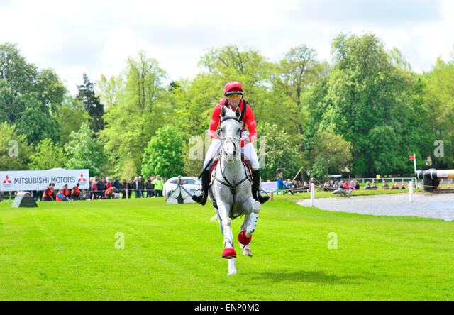 Badminton, UK. 09th May, 2015. Rider Paul Tapner. From Australia on Horse Kilronan, at The Cross Country Test at - Stock Image