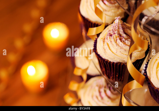Party cupcakes - Stock Image