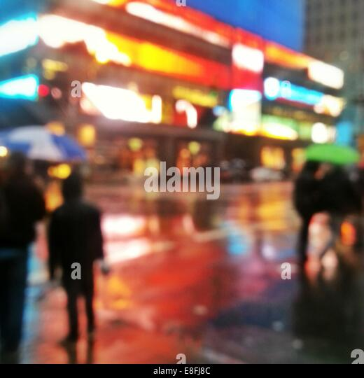 USA, New York State, New York City, Abstract urban street scene - Stock Image