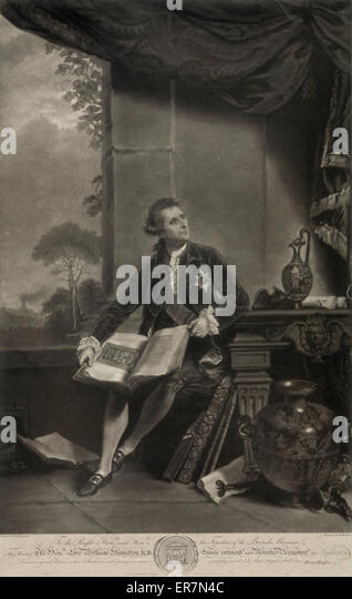 Honourable Sir William Hamilton. - Stock Image