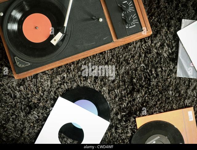 record,vinyl,record player - Stock Image