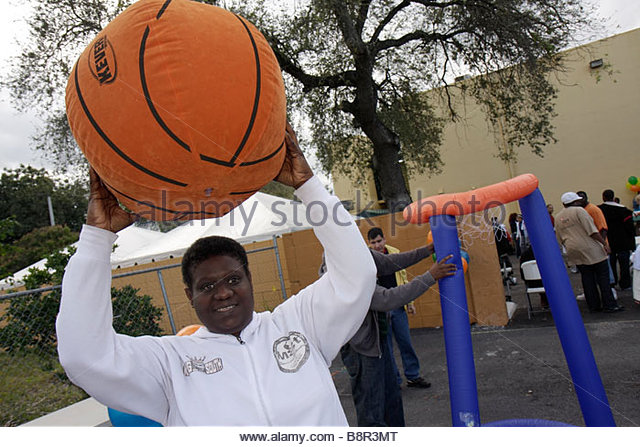 Miami Florida Association for Development of Exceptional ADE MLK Day Carnival developmentally disabled mental mentally - Stock Image