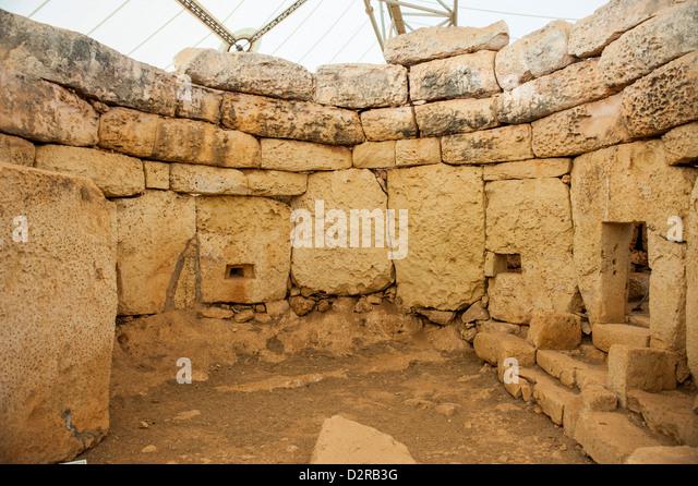 Prehistoric temple of Mnajdra, UNESCO World Heritage Site, Malta, Europe - Stock-Bilder
