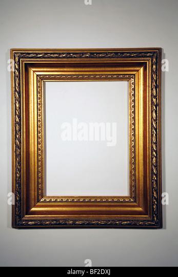 beautiful gold frame, goldleaf, gilded, classic, frame - Stock-Bilder