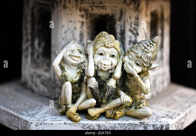 Mischievous Elves - Stock Image