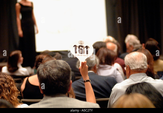 Auction of Ellen Barkin s jewelry at Christie s Auction House in Rockefeller Center in NYC - Stock Image