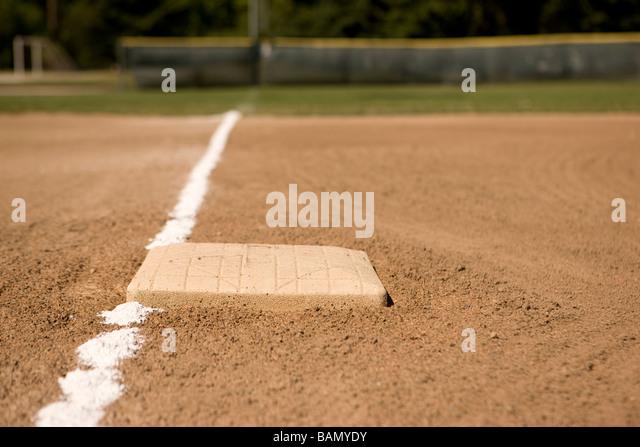 Down the line - baseball concepts - Stock Image