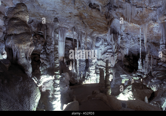 Coves de Campanet, Tropfsteinhöhle, - Stock Image