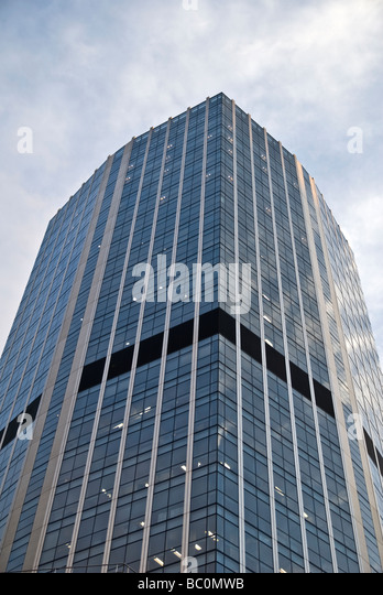 TALL BUILDING MADE BY GLASS - Stock Image