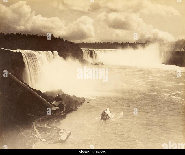 Niagara Falls, 19th Century - Stock Image