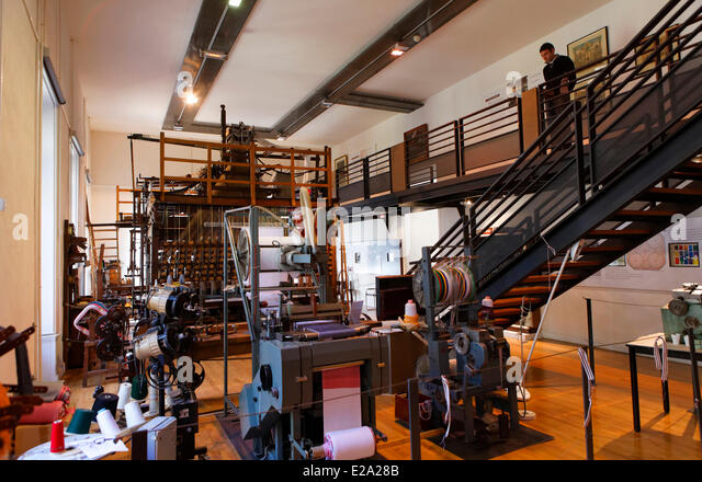 France, Loire, Saint Etienne, the museum of Art and Industry, Room dedicated to narrow fabrics Etienne - Stock Image