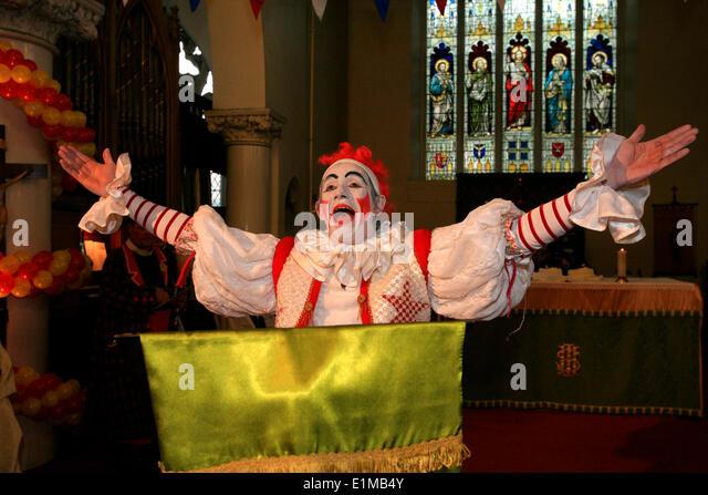 Annual Grimaldi clown service in London - Stock Image