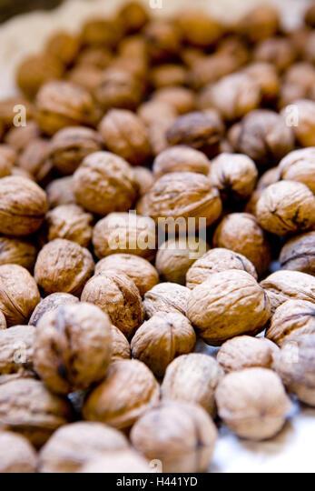 Walnuts, Stilllife, - Stock Image