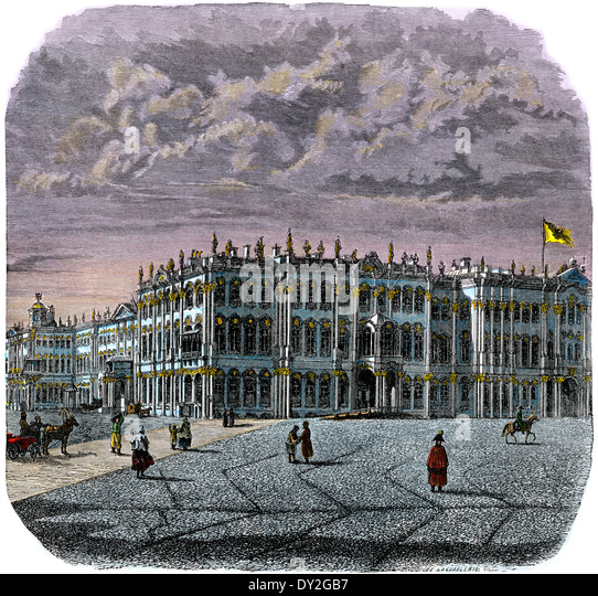 The Winter Palace, St Petersburg, Russia, 1880s. - Stock Image