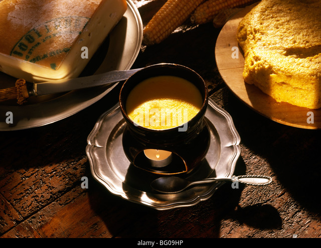 Cheese Fondue - Stock Image