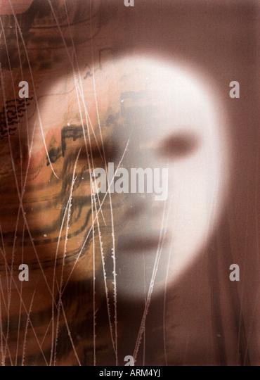A ghostly face artwork. - Stock-Bilder