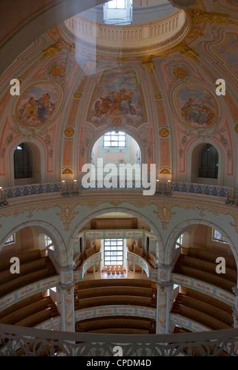 Inside the Frauenkirche, Dresden, Saxony, Germany, Europe - Stock Image