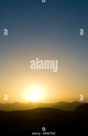 Sunset at Kaikoura New Zealand - Stock Image