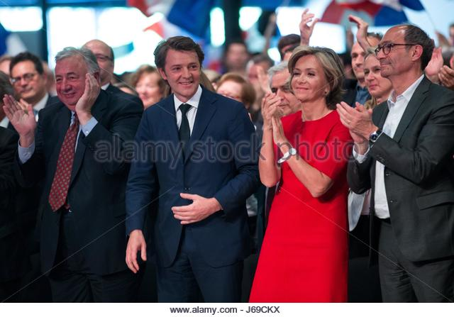 Paris, France. 20th May, 2017. (L-R) Senate president Gerard Larcher, French right-wing Les Republicains (LR) party - Stock Image